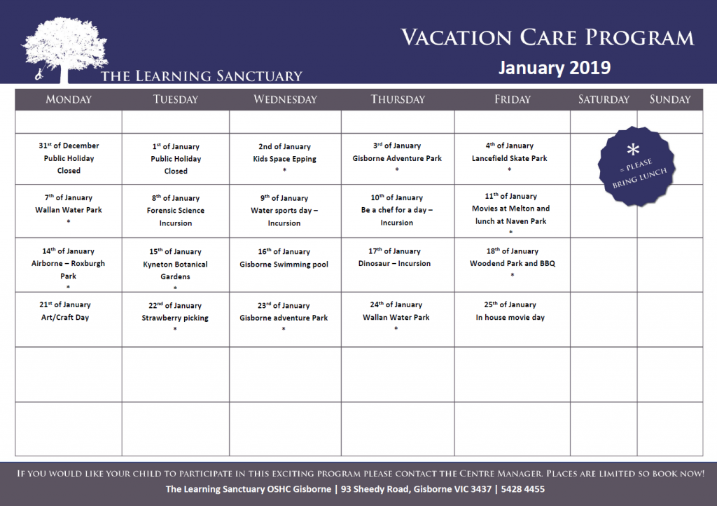 The Learning Sanctuary Gisborne - Vacation Care Program - Before & After School Day Care